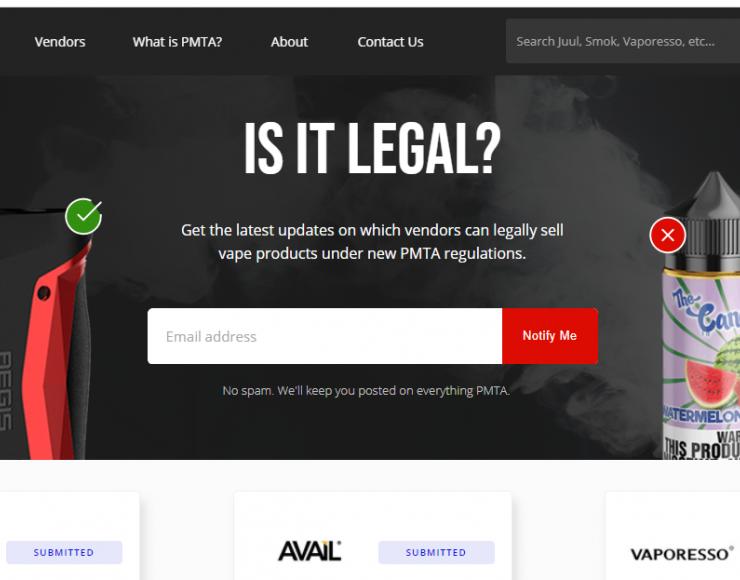 VAPE PMTA: A Pre-Market Tobacco Application Database